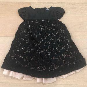 Baby gap black formal dress